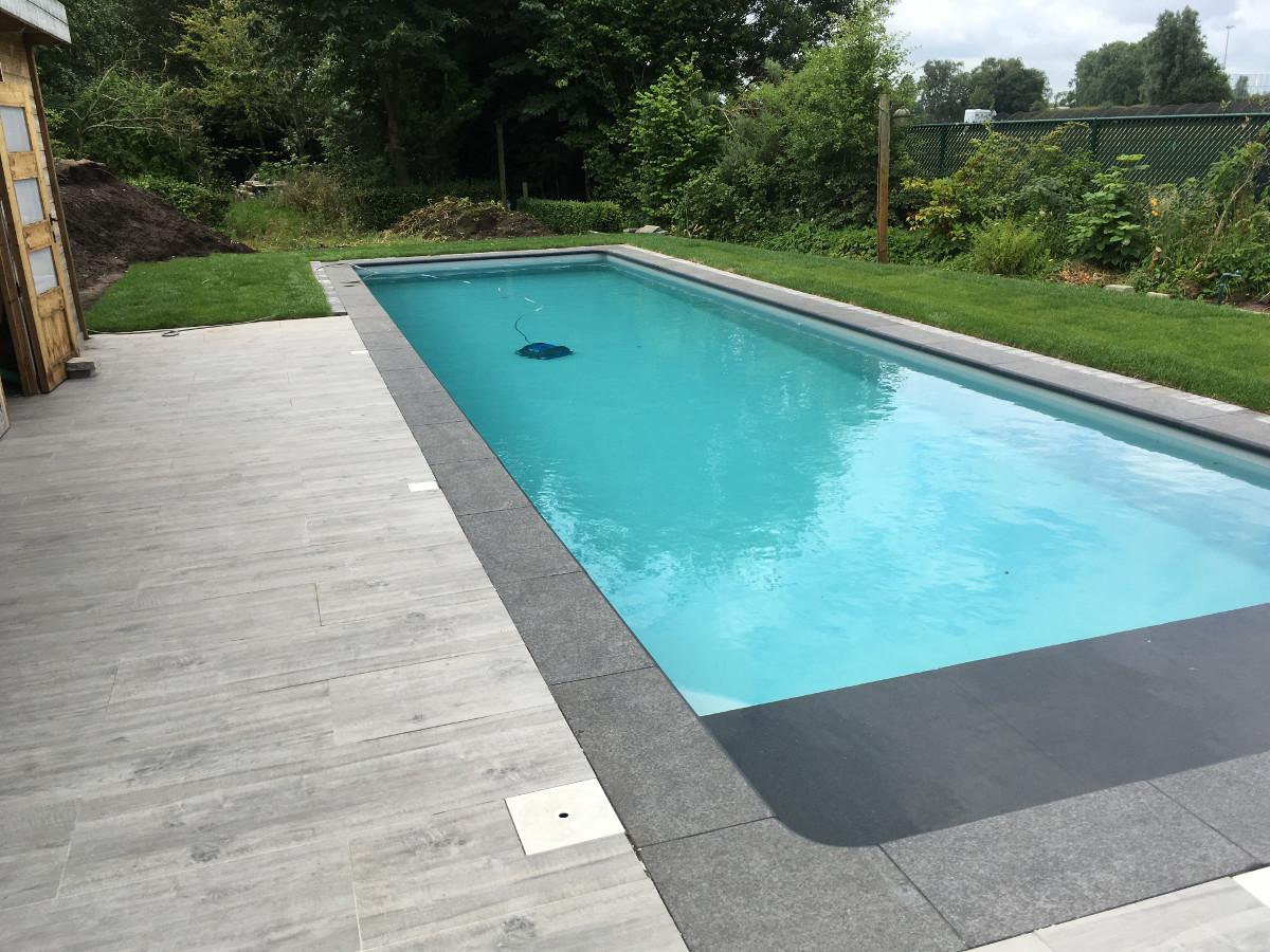 Zwembad kleur liner maison design for Inbouw zwembad rechthoek